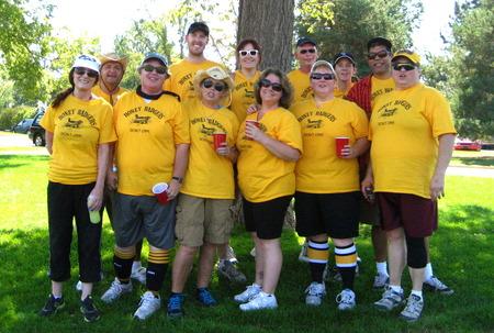 Honey Badgers Kickball Team T-Shirt Photo