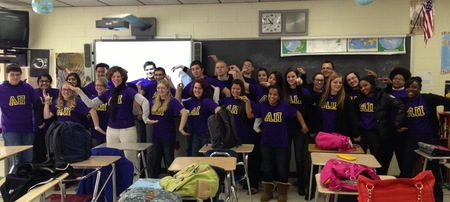 Period 5 Alpha Pi Making Human Pi Symbols T-Shirt Photo