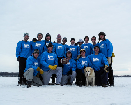 The 6th Annual Snow Football Match T-Shirt Photo
