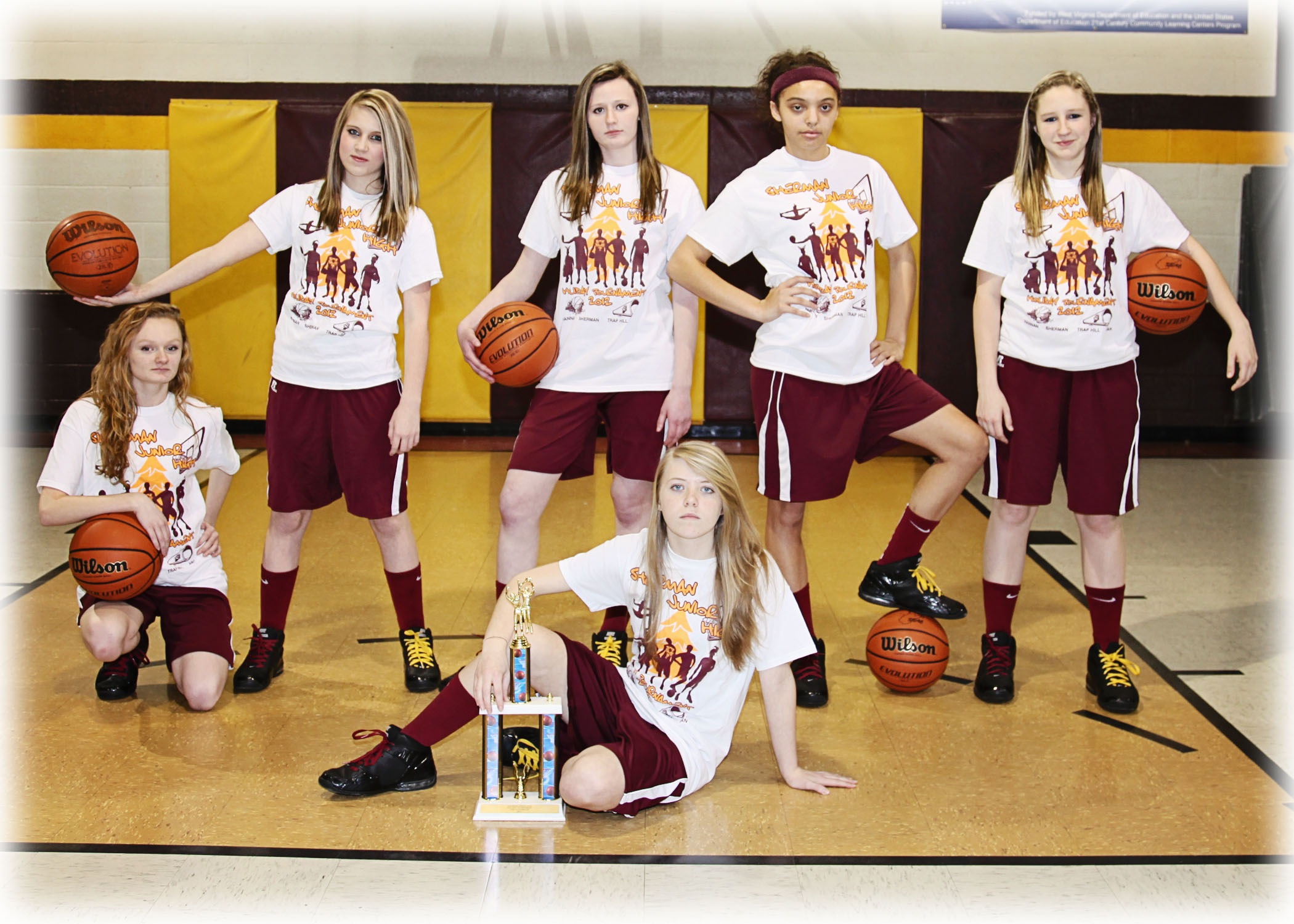 sherman junior high girls basketball t shirt photo