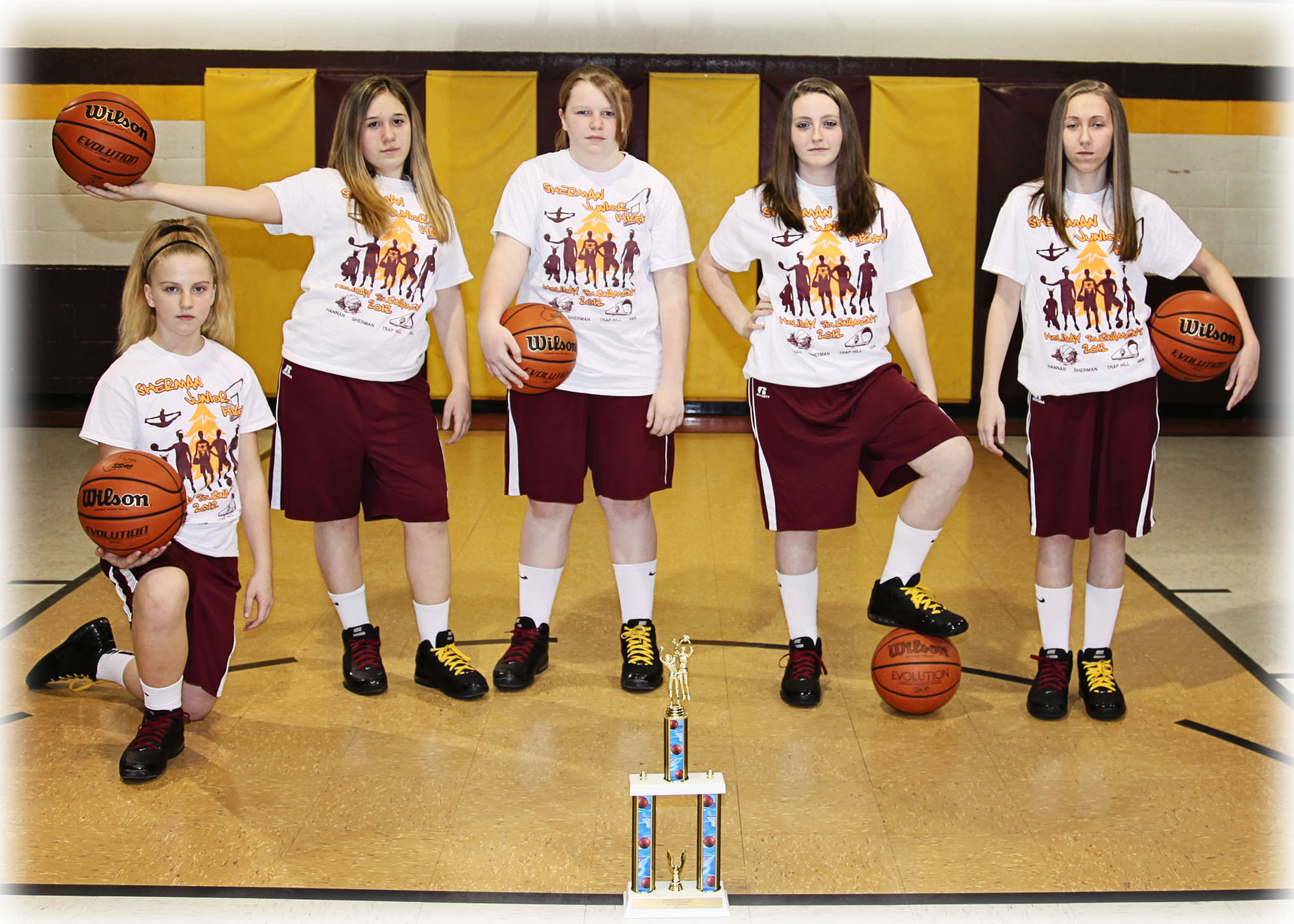 Custom t shirts for sherman junior high girls basketball for Design your own basketball t shirt