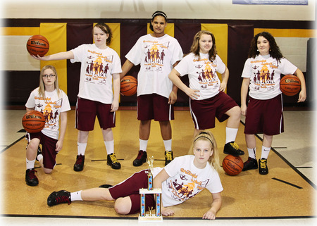 Sherman Junior High Girls Basketball T-Shirt Photo
