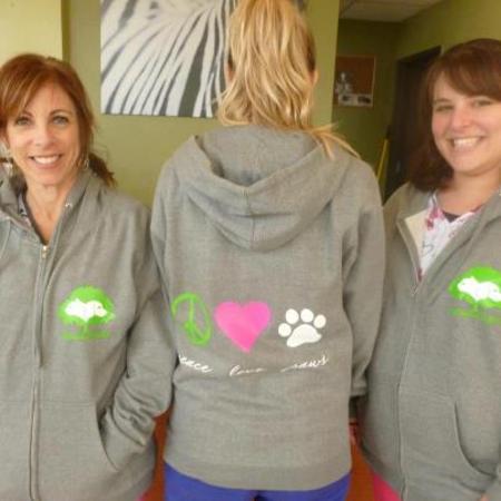 Pah Girls Cozy In Their Sweatshirt Jackets T-Shirt Photo