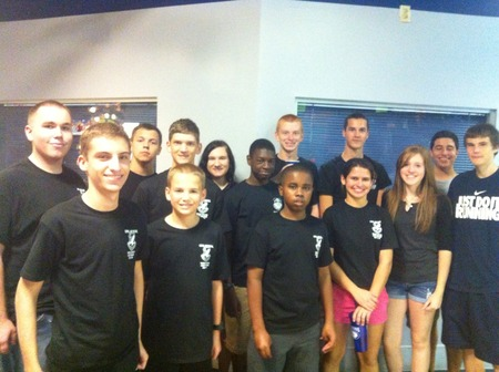 Cap Cadets At Laser Tag T-Shirt Photo