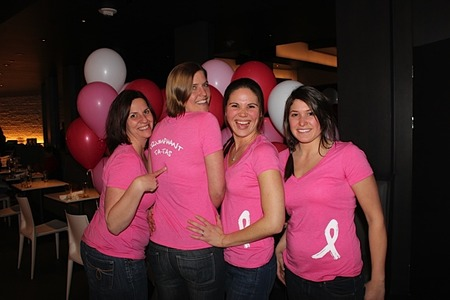 Strike Out Breast Cancer Bowling Tournament T-Shirt Photo