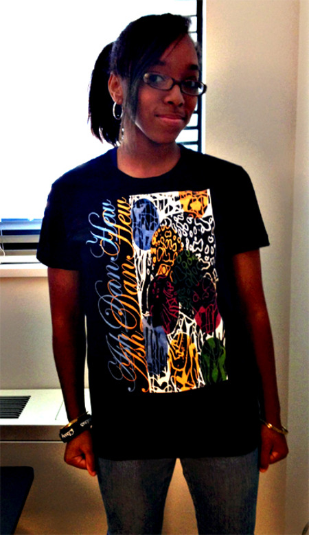 Ash Dan Hew Abstract Tiger Face T-Shirt Photo