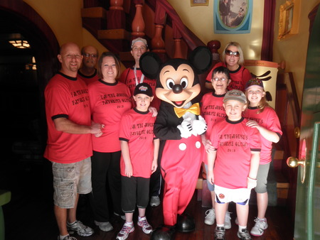 The Olivas Meet The Mouse T-Shirt Photo
