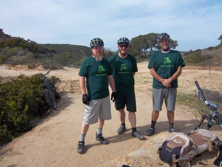 Team Bacala Rides The Hill Of Fort Ord, Ca T-Shirt Photo