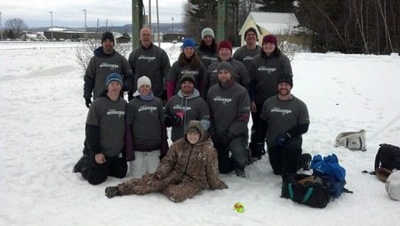 Ashley's Entourage   Snow Softball Charity Tournament T-Shirt Photo