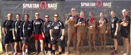 Spartan Sprint   Team Stogie Athletics! T-Shirt Photo