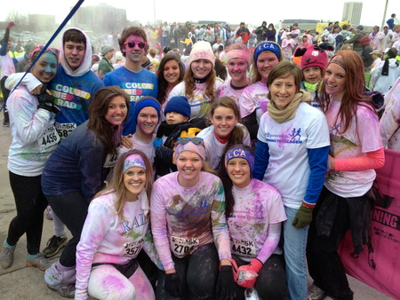 Running For Reagen   Color Run T-Shirt Photo