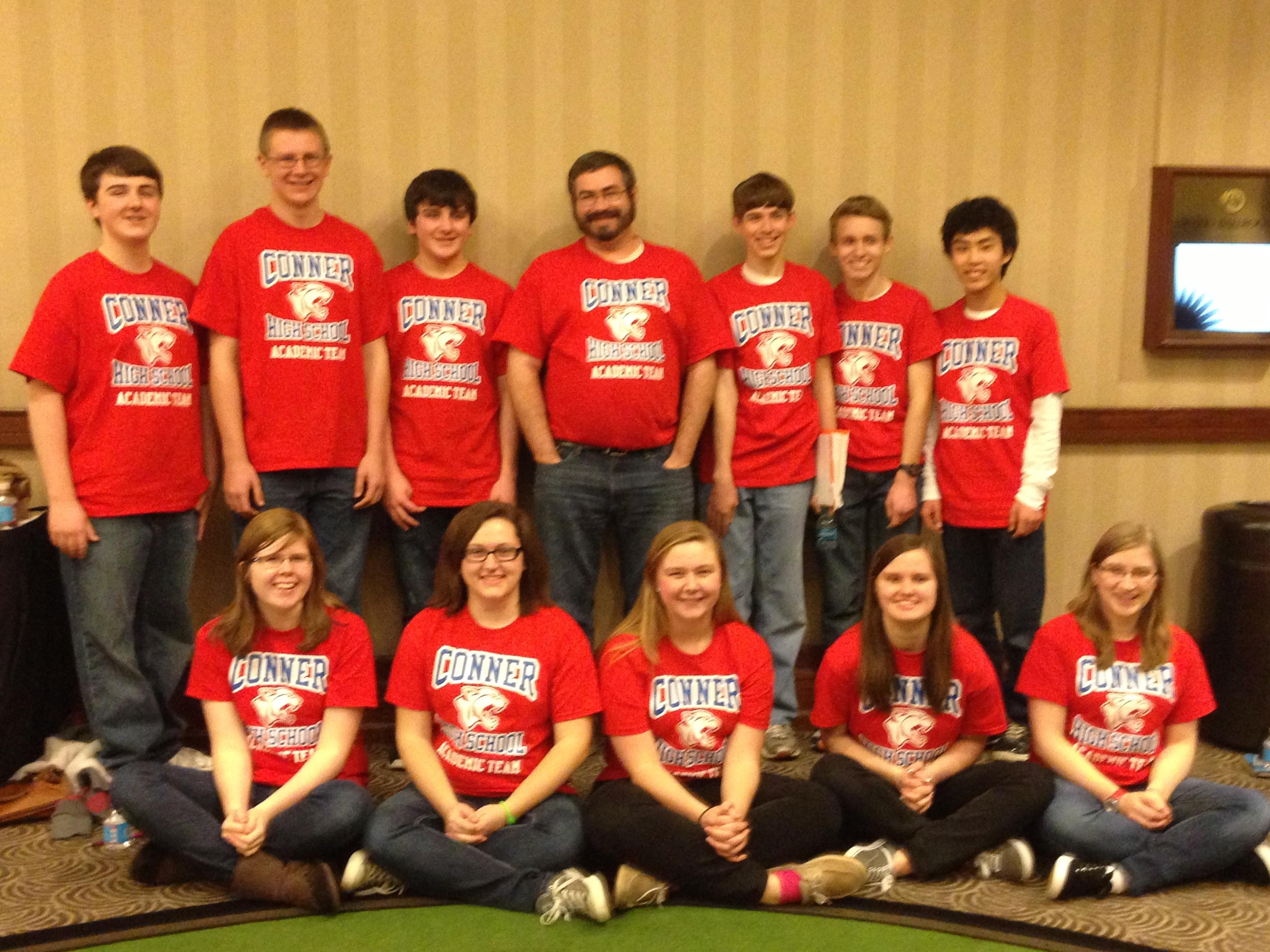 Shirt design louisville ky - Conner High School Academic Team T Shirt Photo