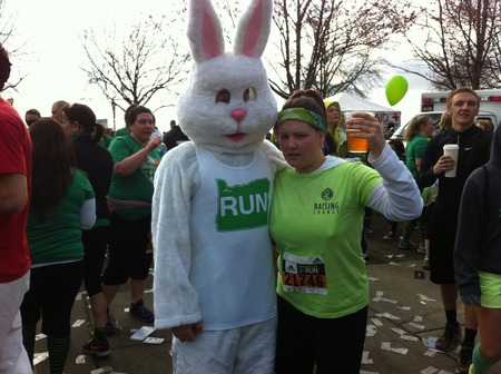 Raising Change In The Shamrock  Run!  T-Shirt Photo