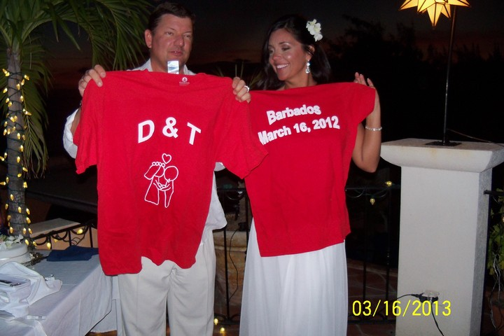 Married Life Begins In Barbados  T-Shirt Photo