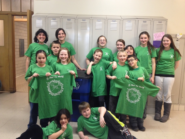 Green Wolves & Green Paws Edison Park Elementary T-Shirt Photo