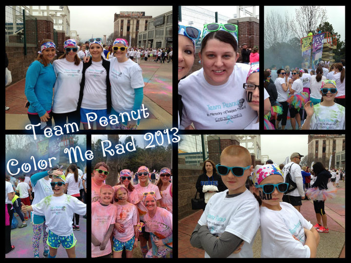 Team Peanut At Color Me Rad 5 K Run T-Shirt Photo