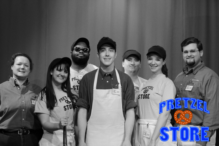 Pretzel Store Tv Show Cast! T-Shirt Photo