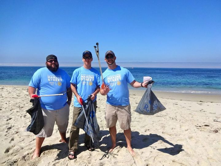 Rotary Beach Cleanup T-Shirt Photo