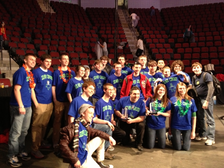 Silver Circuit Robotics Wins Boston's Rookie Inspiration Award! T-Shirt Photo