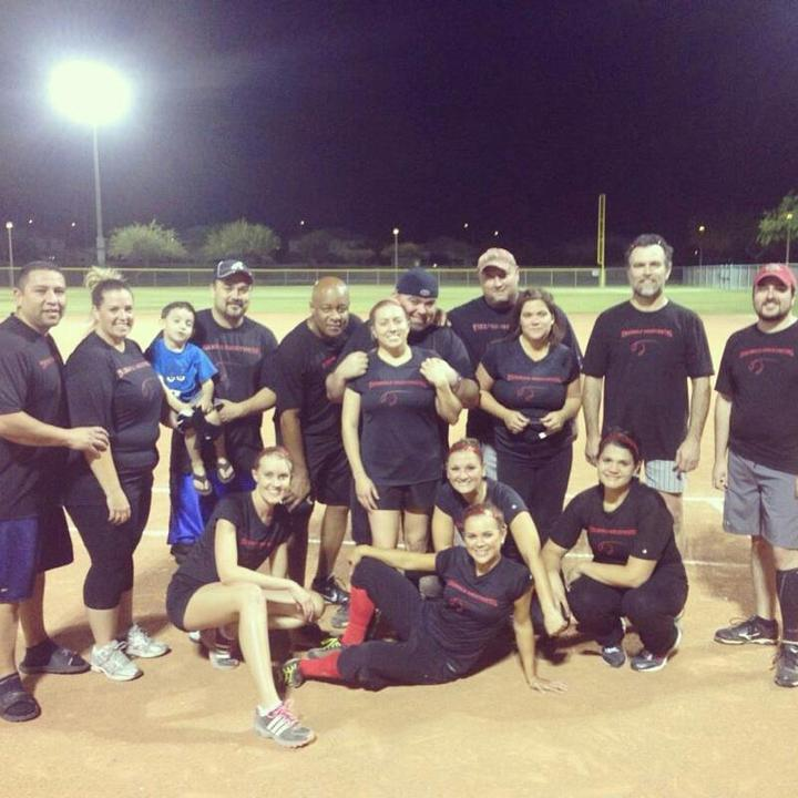 Triangle Sheetmetal Co Ed Softball Team T-Shirt Photo