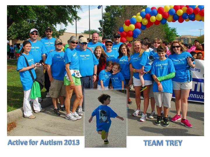 Active For Autism 2013   Team Trey T-Shirt Photo