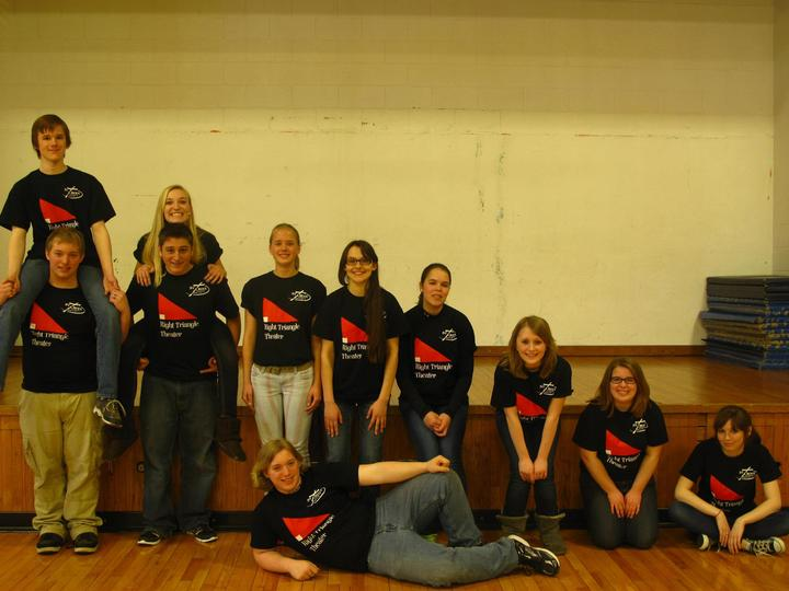 Our Right Triangle Theater Triangle T-Shirt Photo