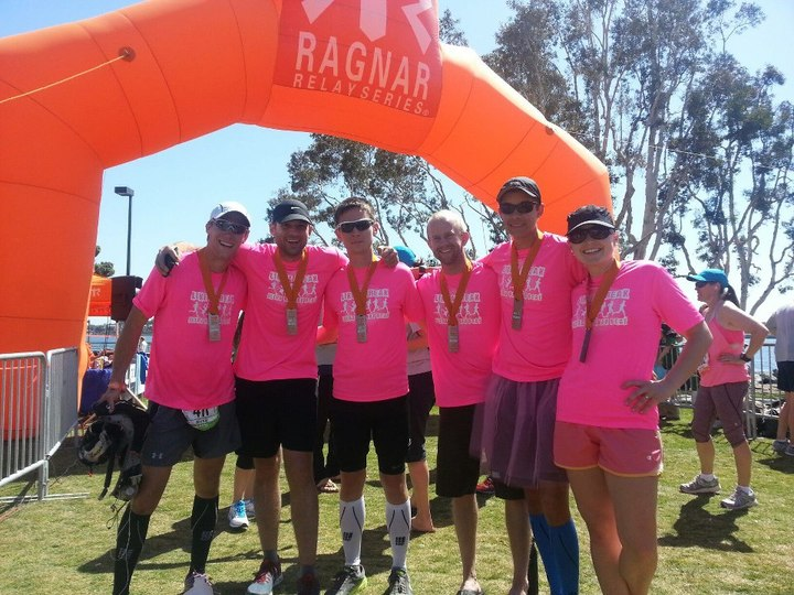 "Team ""Like A Freak"" At Ragnar Finish Line T-Shirt Photo"