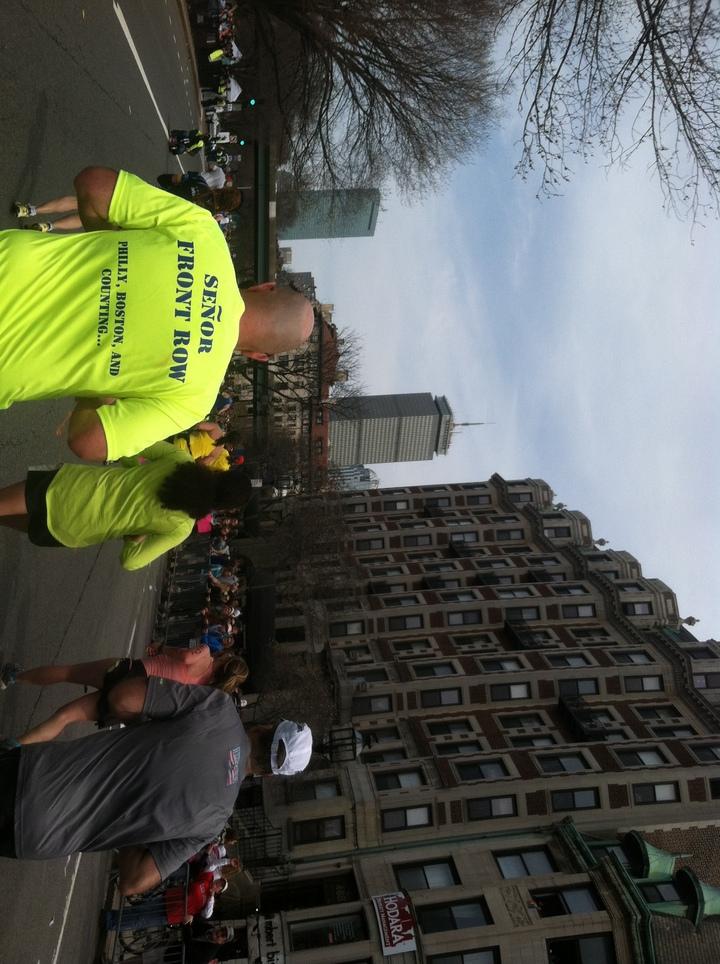 Jimbo Running The Boston Marathon 2013 T-Shirt Photo
