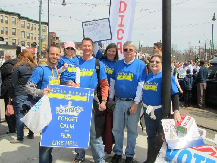 My Cheering Section At The Boston Marathon T-Shirt Photo