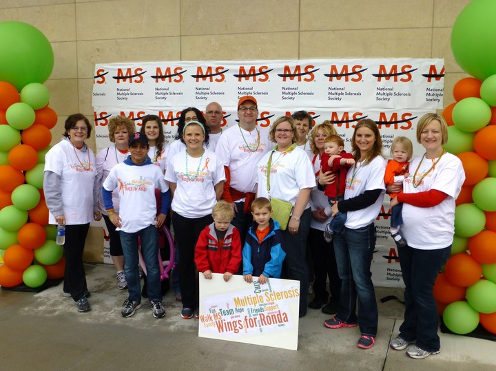 2013 Walk Ms Greater Kc   Team Wings For Ronda T-Shirt Photo