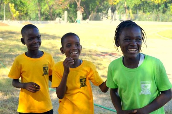 Track Stars Of L'ecole De Choix (Haiti) T-Shirt Photo