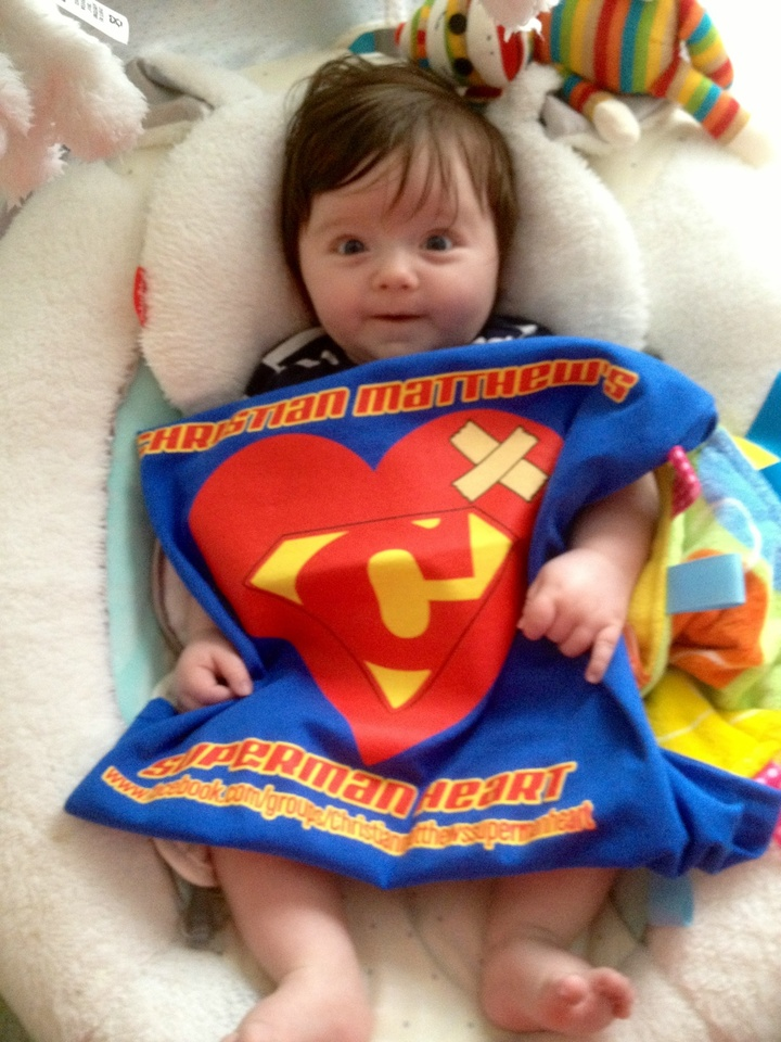 Christian Matthew's Superman Heart T-Shirt Photo