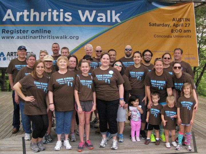 Austin Arthritis Walk 2013   Team Kimber T-Shirt Photo