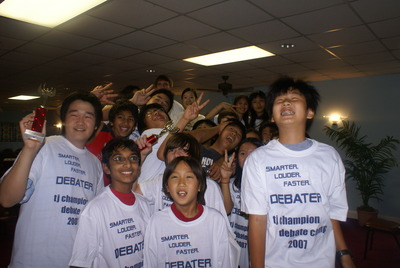 Tj Champion Debate Camp End Of Camp Celebration T-Shirt Photo