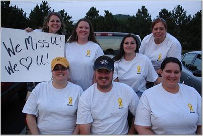 Supporting Our Troop...Especially Michael! T-Shirt Photo