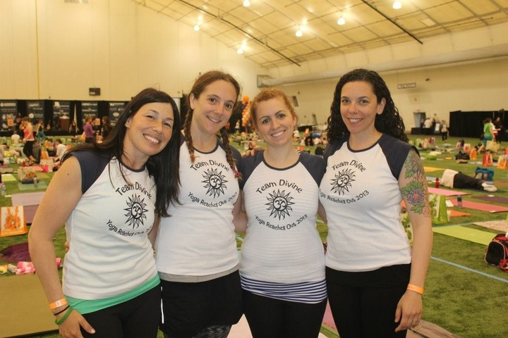 Team Divine Supports Yoga Reaches Out T-Shirt Photo