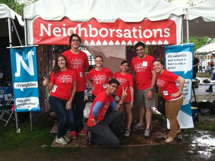 The Neighborsations Team Celebrating At The Sweetlife Festival! T-Shirt Photo
