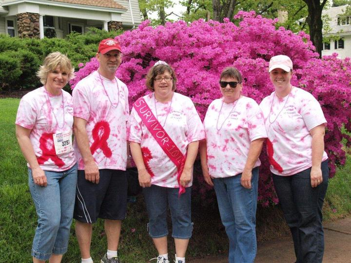 Ct Breast Health Inititive Walk In The Park 2013 T-Shirt Photo