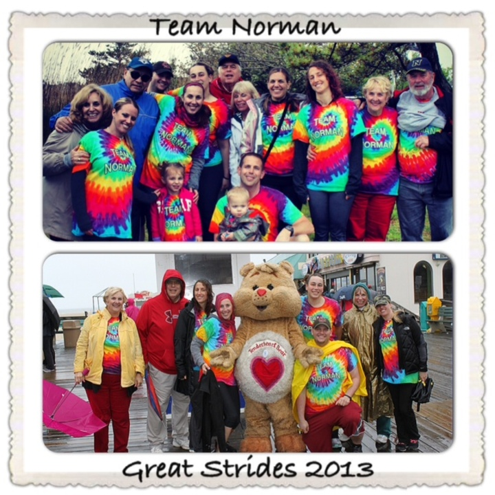 Team Norman Braves The Elements To Take Great Strides! T-Shirt Photo