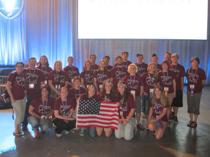 Team Montana At International Science Fair T-Shirt Photo