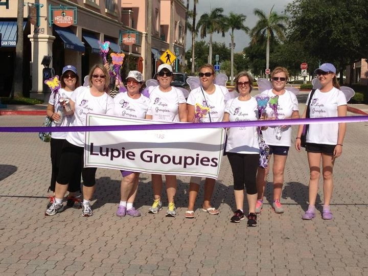 Walk To End Lupus Now 2013 Boca Raton, Fl Team Lupie Groupies T-Shirt Photo