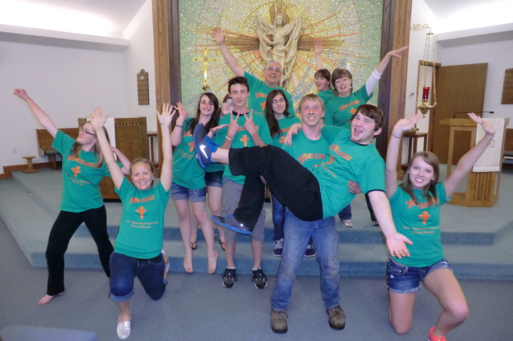 Uptight Youth In Church T-Shirt Photo