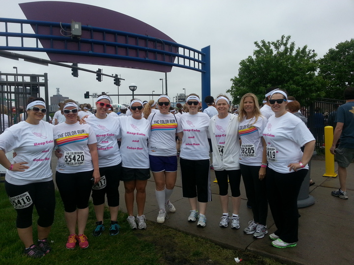 Color Run Before T-Shirt Photo