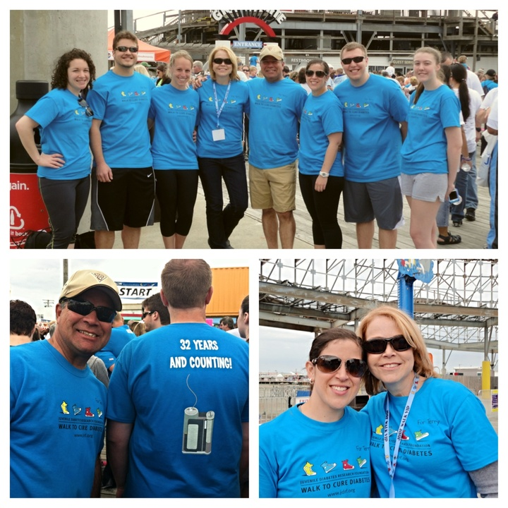 Team 32 Years And Counting! At Jdrf Walk To Cure Diabetes In Wildwood, Nj T-Shirt Photo