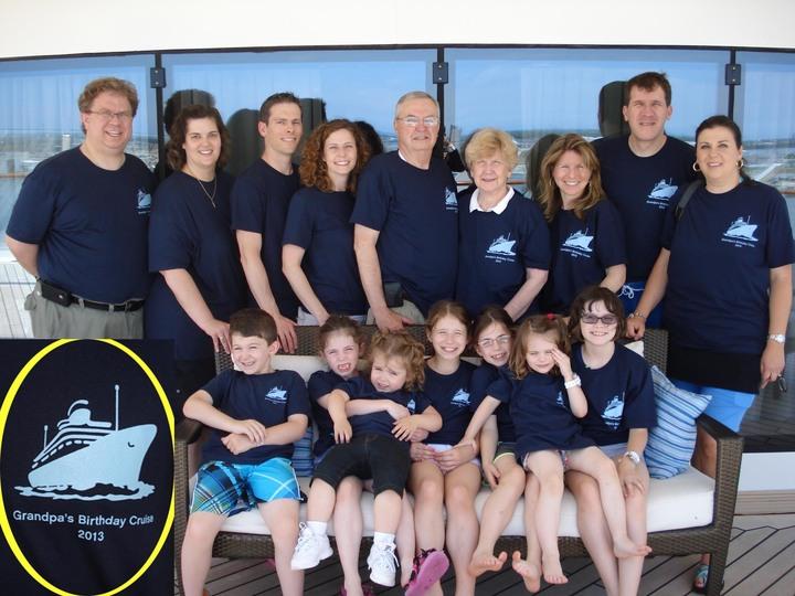Grandpa's Birthday Cruise T-Shirt Photo