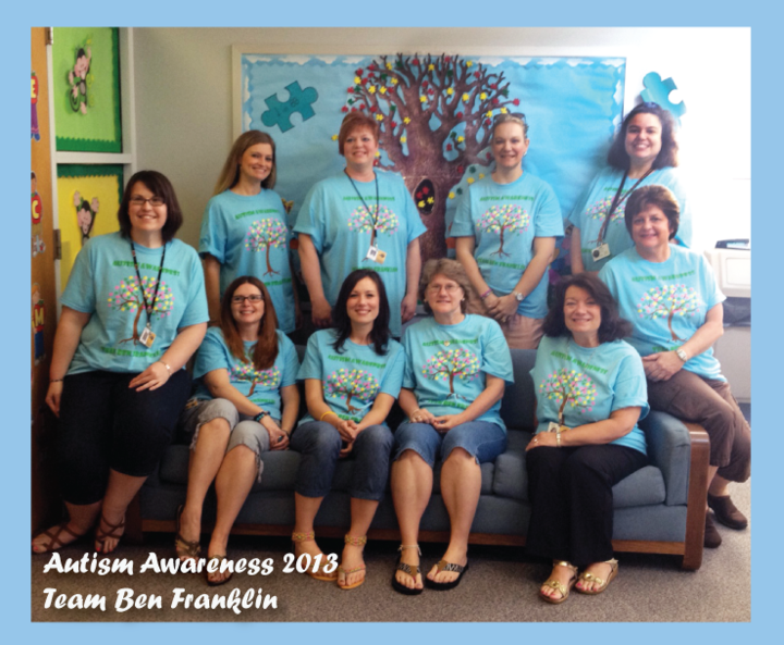 Autism Awareness 2013   Team Ben Franklin T-Shirt Photo