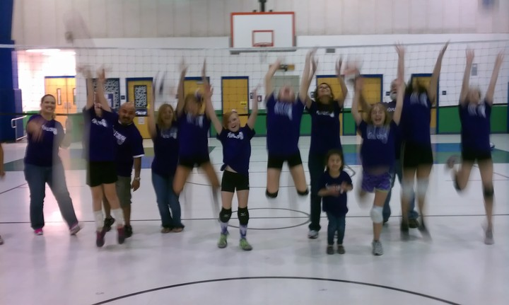 Purple Crush Volleyball Shows Their Colors T-Shirt Photo