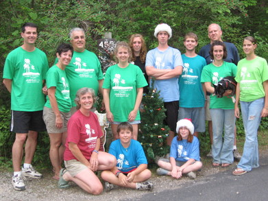 Christmas In July Camp Group T-Shirt Photo