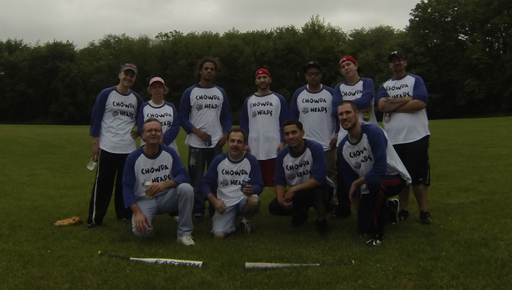 Company Softball Game   Chowda Heads T-Shirt Photo