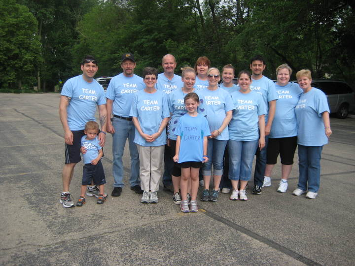 Team Carter Nf Naperville Walk 2013 T-Shirt Photo